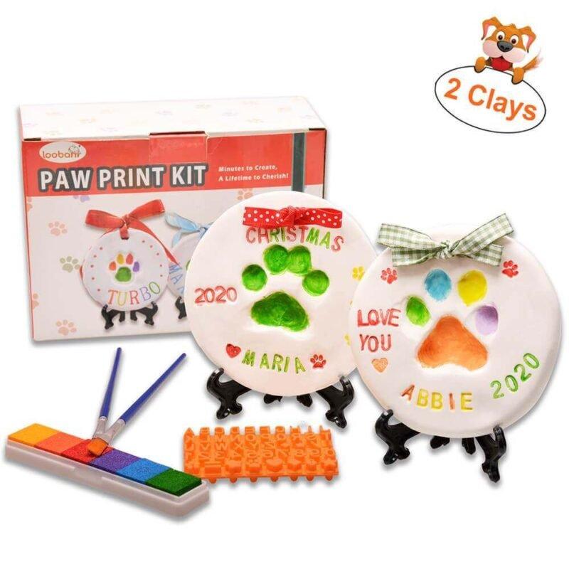 LOOBANI Dog Paw Print Ornaments Kit