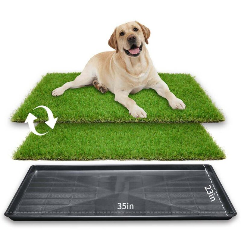 LOOBANI 35in x 23in Extra Large Grass Porch Potty Tray